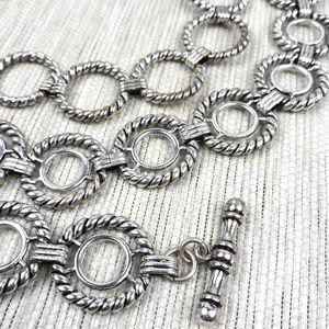 Accessories - Silvertone Metal Loop Chain Belt